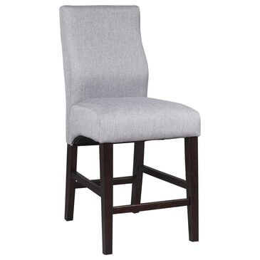 Pacific Landing Counter Stool with Cappuccino Legs in Gray, , large