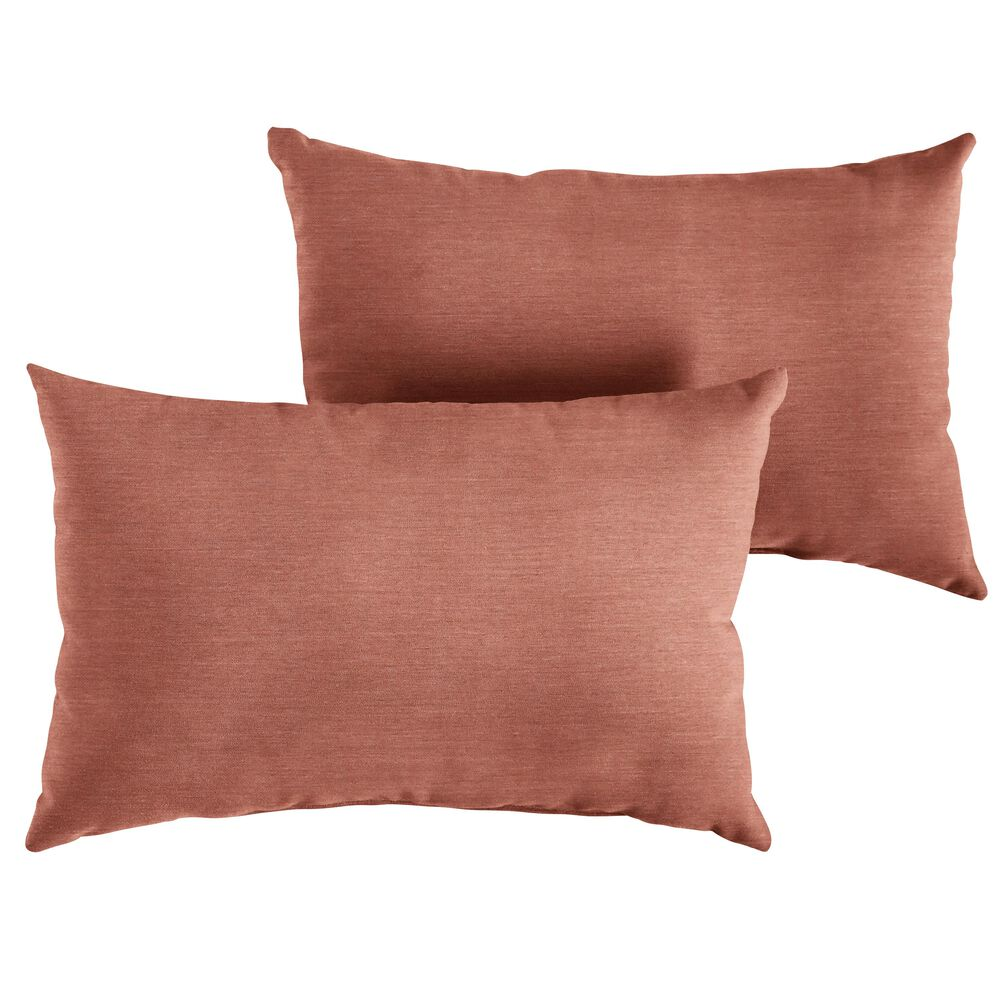 """Sorra Home Sunbrella 16"""" x 26"""" Pillow in Cast Coral (Set of 2), , large"""