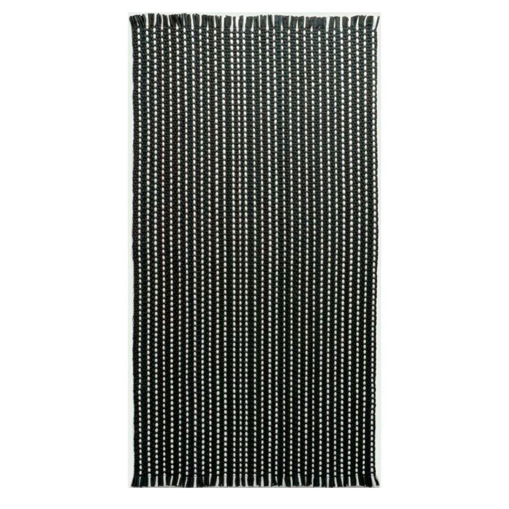 Capel Crossroad Woven 0398R5 2' x 6' Black Runner, , large