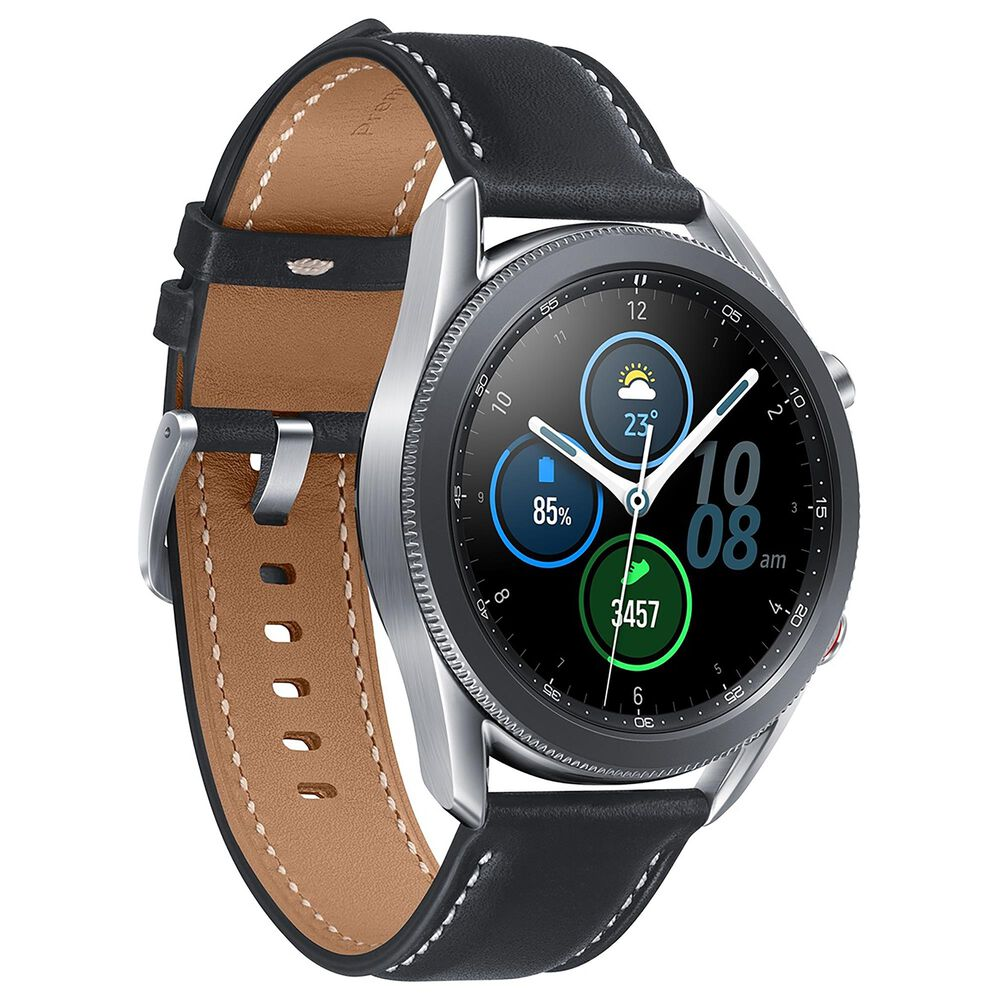 Samsung Galaxy Watch3 Smartwatch 45mm LTE in Mystic Silver, , large