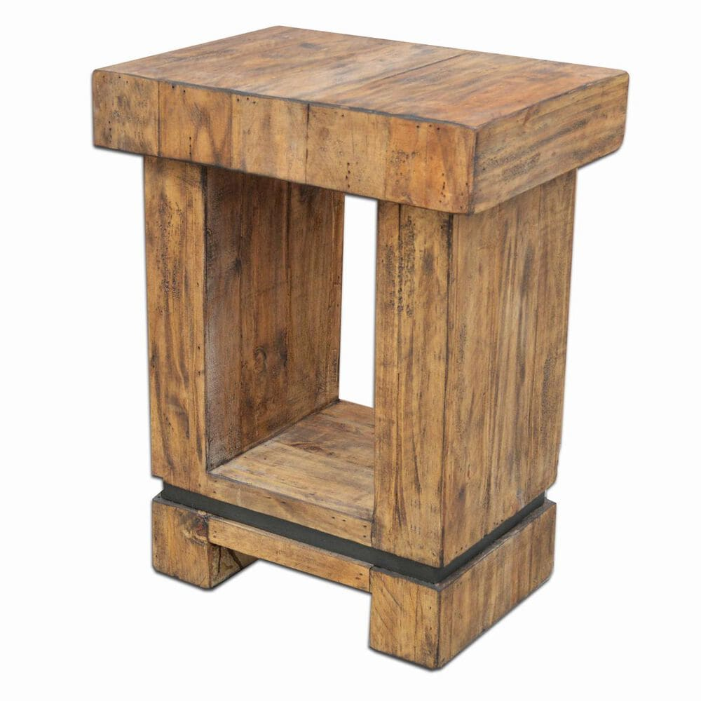 Urban Roads La Jolla Chair Side Table in Brazilian Pine, , large