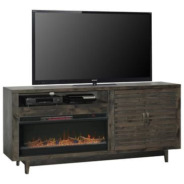 """Endress International Avondale 84"""" Fireplace Console in Charcoal, , large"""
