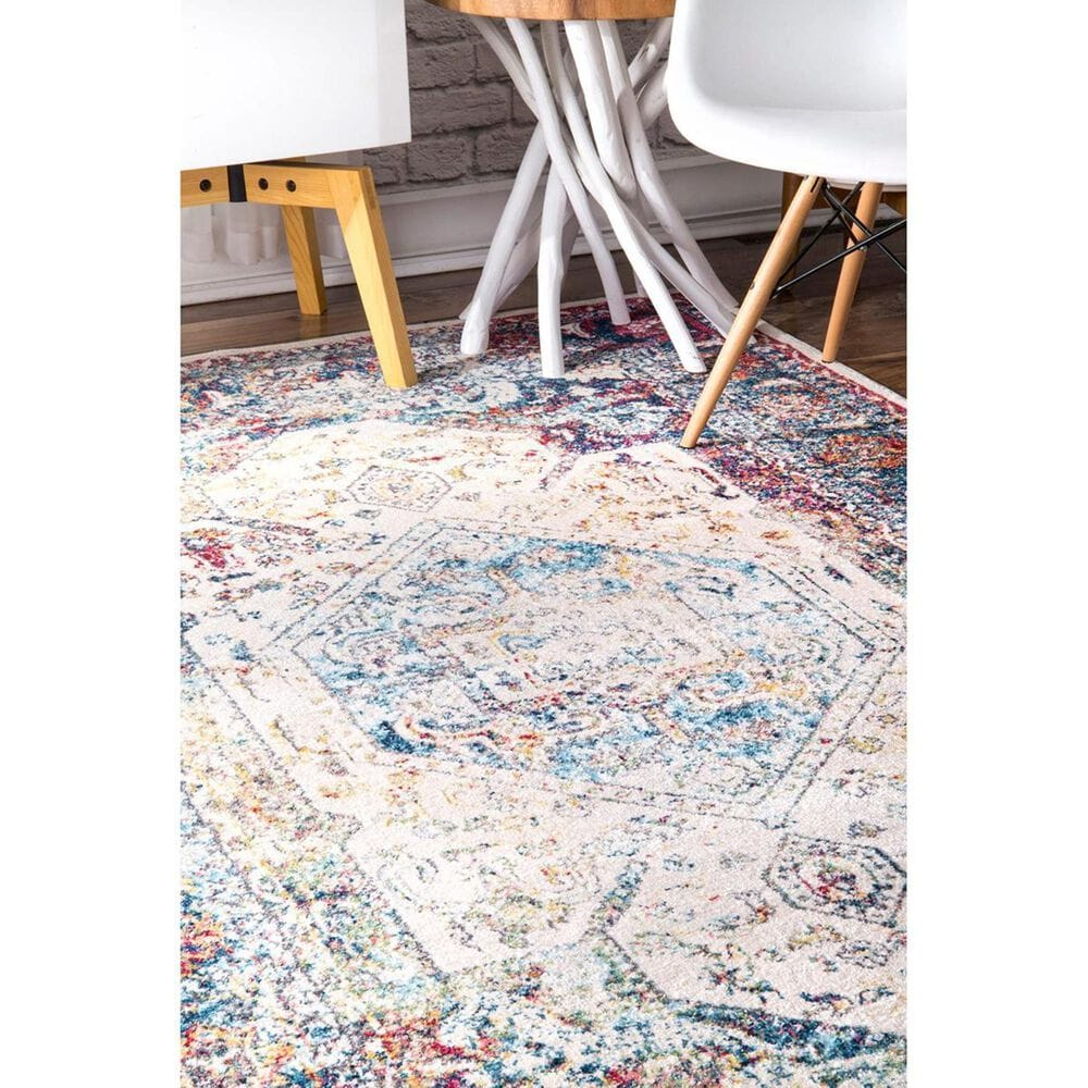 """nuLOOM Valley MUVL07A 4' x 5'3"""" Blue Area Rug, , large"""