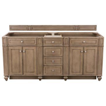 "James Martin Bristol 72"" Double Bathroom Vanity Cabinet in White Washed Walnut, , large"