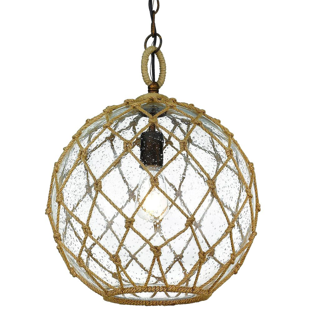 Golden Lighting Haddoc Medium Pendant in Burnished Chestnut, , large