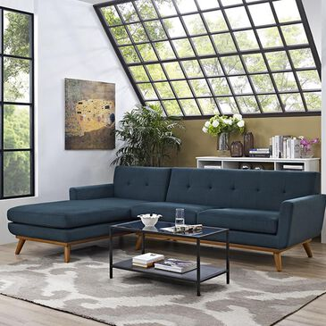 Modway Engage Left Facing Sectional in Azure, , large