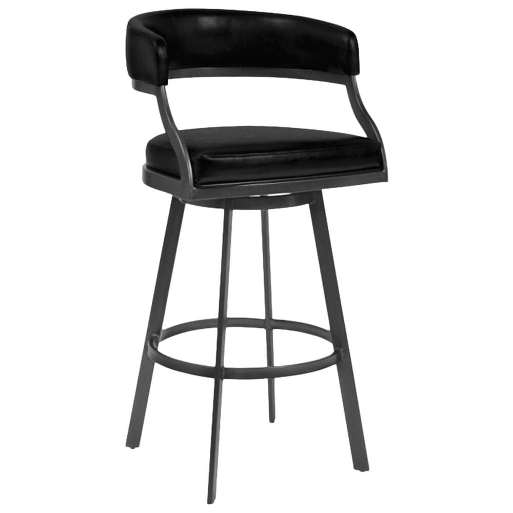 """Blue River Saturn 26"""" Counter Stool with Vintage Black Seat in Mineral, , large"""