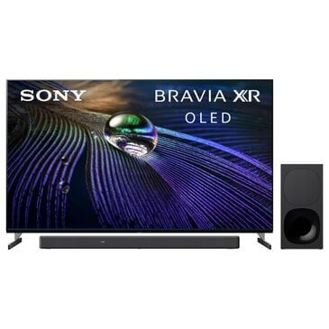 """Sony 65"""" Class A90J 4K OLED UHD Smart TV with HDR and 3.1 Channel Soundbar System in Black, , large"""