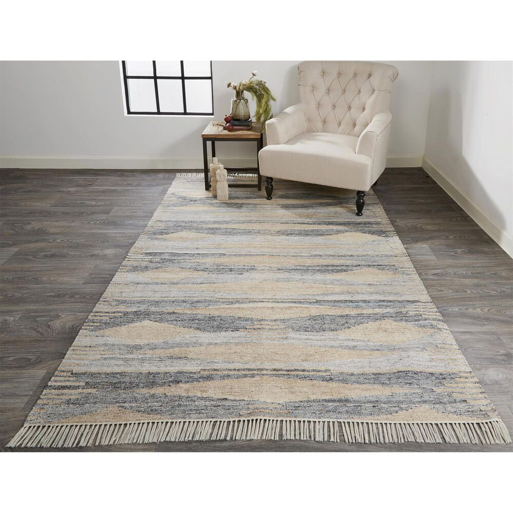 Feizy Rugs Beckett 0815F 8' x 10' Gray and Beige Area Rug, , large