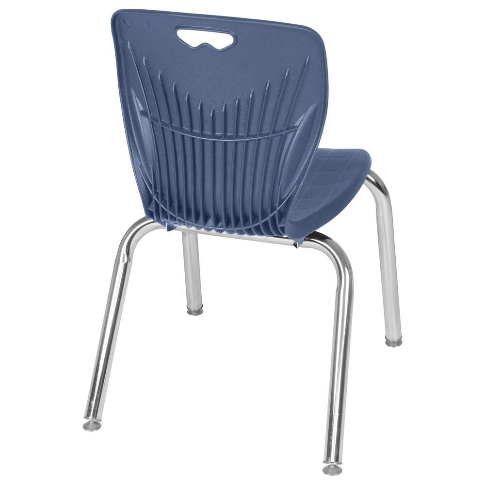 "Regency Global Sourcing Andy 15"" Stack Chair in Blue/ Chrome, , large"