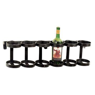 Go Home Wine Rack in Blackened Finish, , large