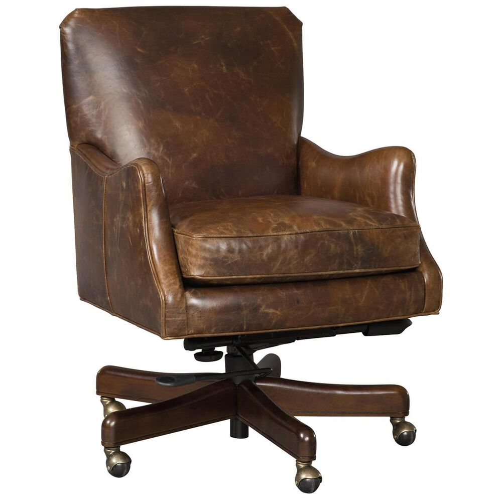 Hooker Furniture Imperial Empire Home Office Chair in Natchez Brown, , large