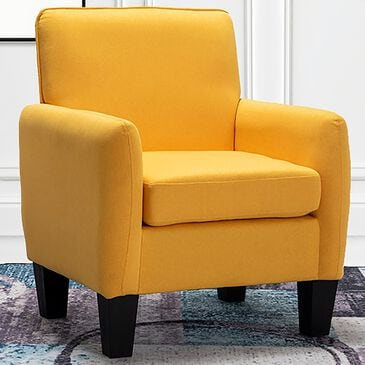 Lilola Home Mia Accent Armchair in Yellow, , large