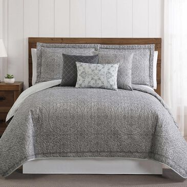 Pem America Style 212 6-Piece Queen Calista Quilt Set in White and Grey, , large