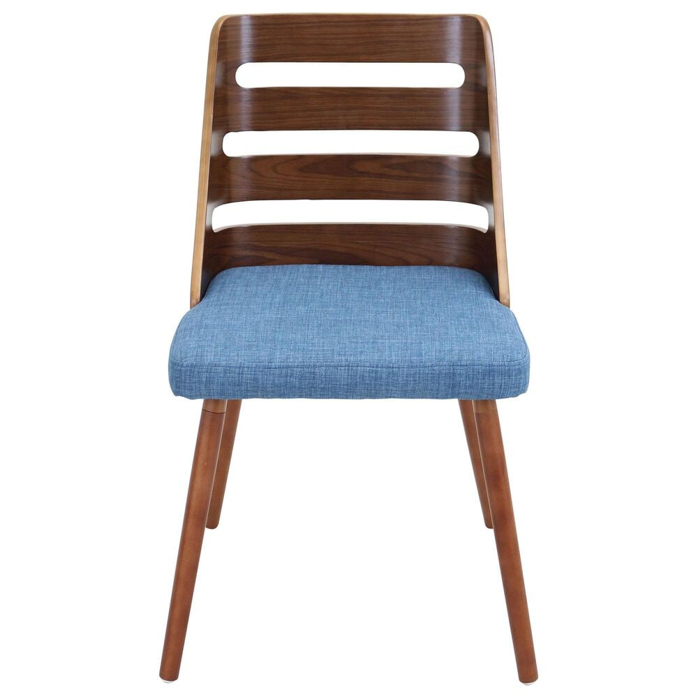 Lumisource Trevi Dining Chair in Blue/Walnut, , large