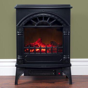 Timberlake Electric Log Fireplace in Black, , large