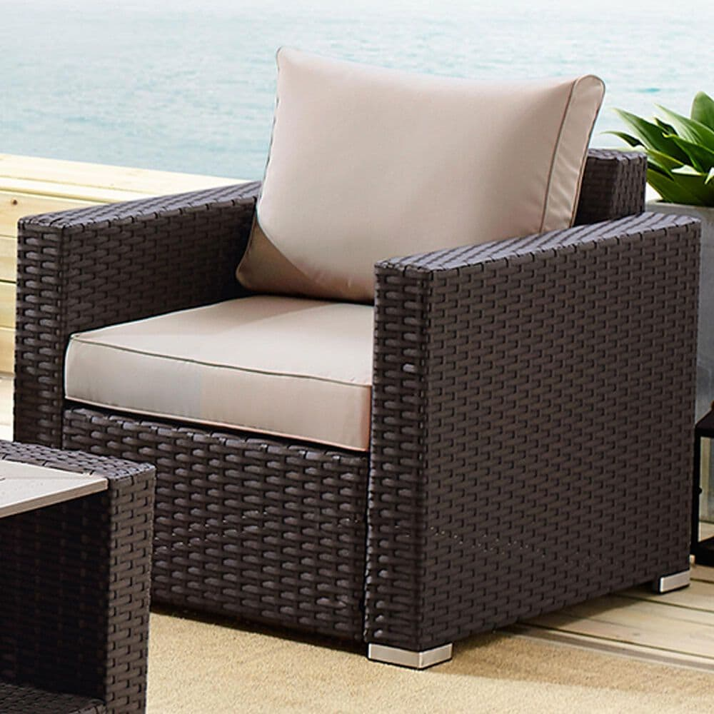 Accentric Approach Patio Accent Chairs in Brown, , large