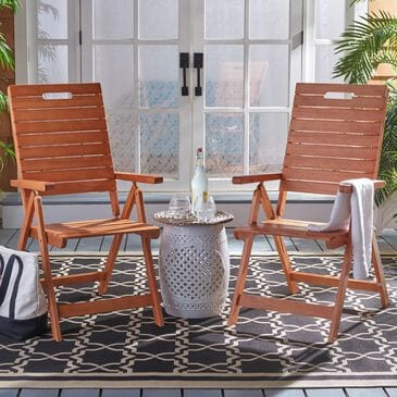Safavieh Rence Patio Folding Chair in Natural (Set of 2), , large