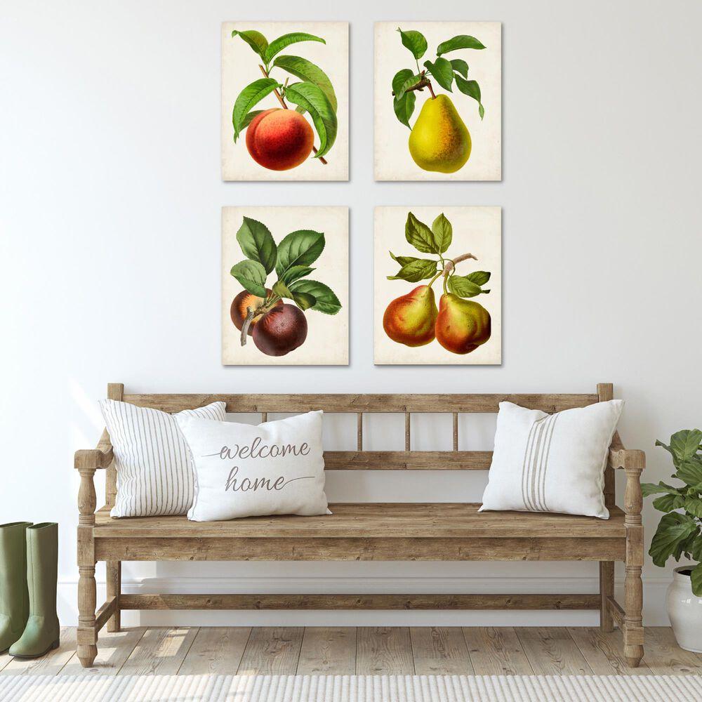Courtside Market Antique Fruit 4-Piece Canvas Set, , large