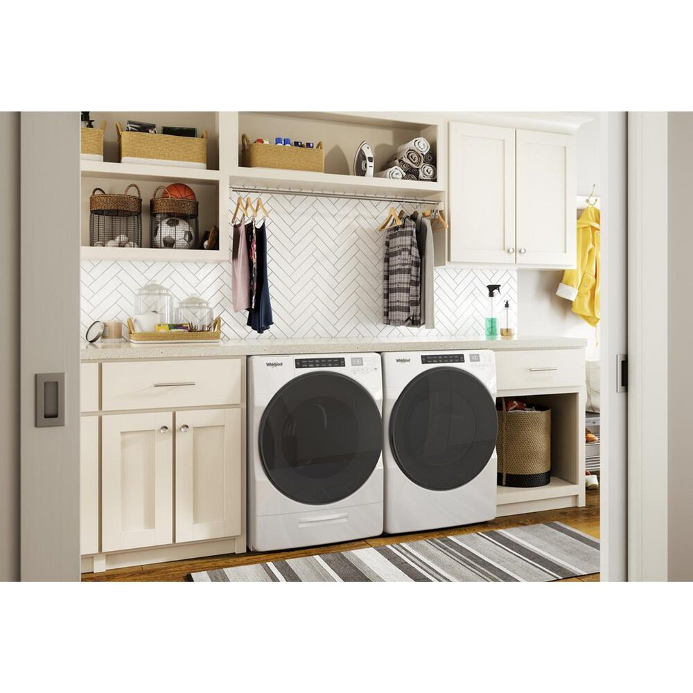 Whirlpool 7.4 Cu. Ft. Front Load Electric Dryer with Steam in White, , large