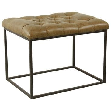 Kinfine Small Ottoman in Light Brown, , large