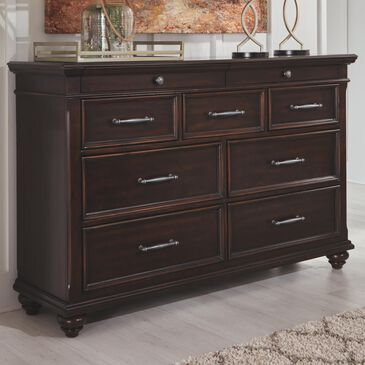 Signature Design by Ashley Brynhurst Dresser in Dark Walnut, , large