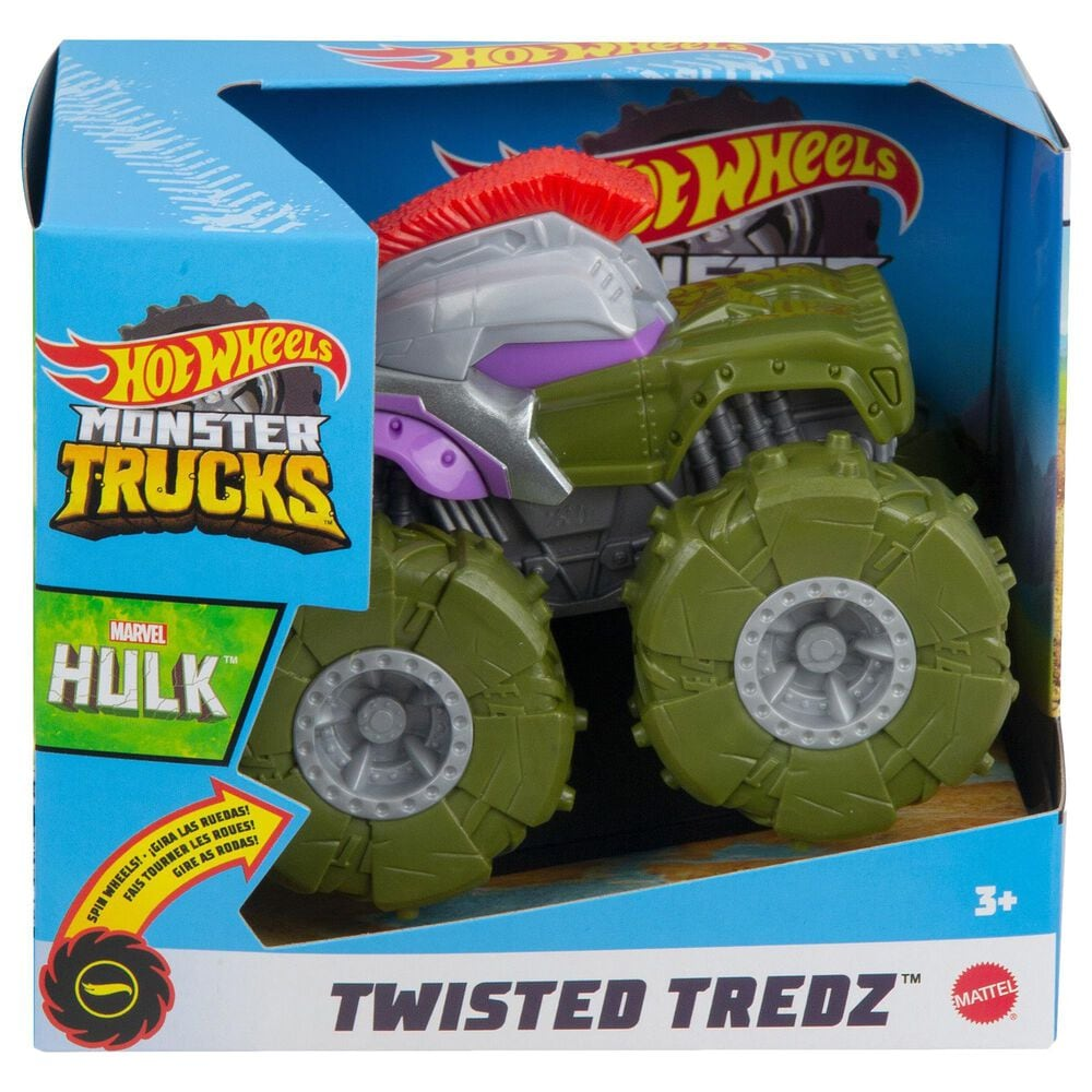 Hot Wheels Monster Trucks Twisted Tredz Gladiator Hulk Vehicle, , large