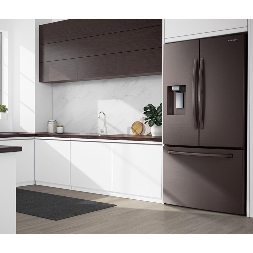 Samsung 28 Cu. Ft. 3-Door French Door Full Depth Refrigerator with Food Showcase in Tuscan Stainless Steel , , large