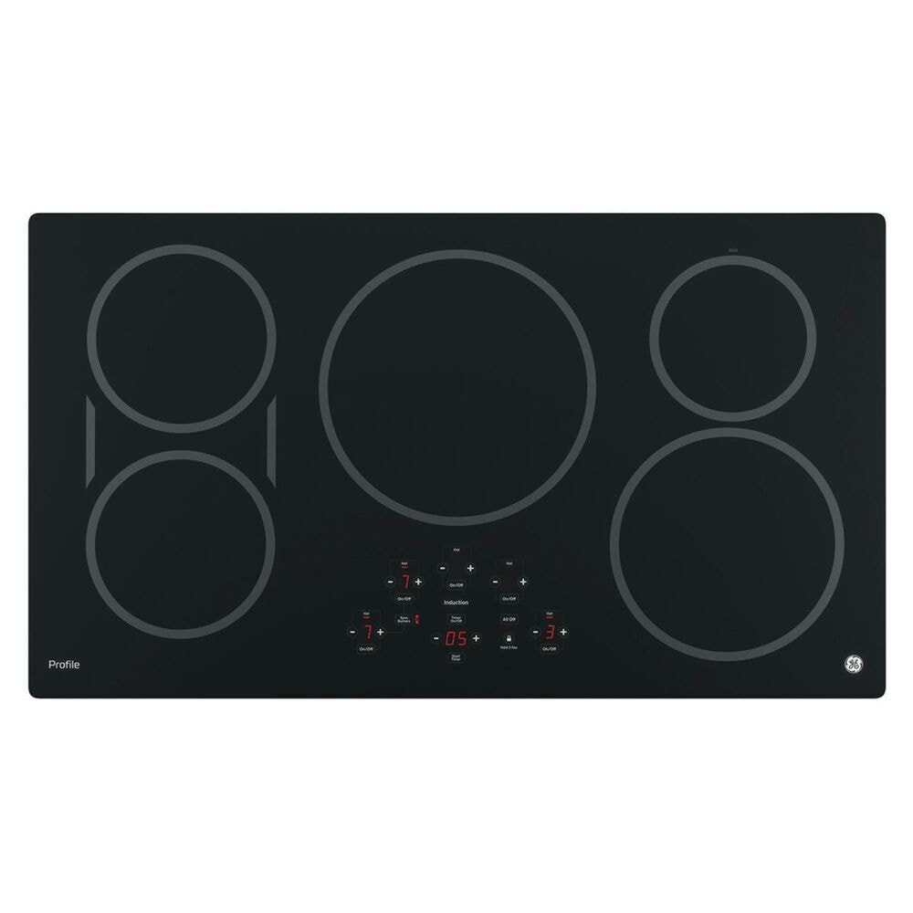 """GE Profile 5.0 Cu. Ft. Smart Built-In Convection Single Wall Oven and 36"""" Built-In Touch Control Induction Cooktop in Black, , large"""