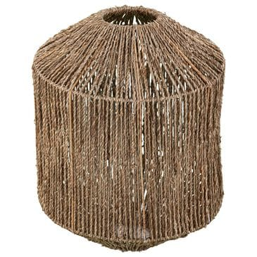 Southern Enterprises Loret Seagrass Pendant Shade in Natural/Woven Seagrass, , large