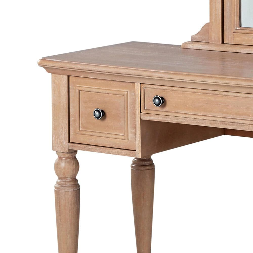 Home Styles Cambridge Vanity with Mirror in Whitewash, , large