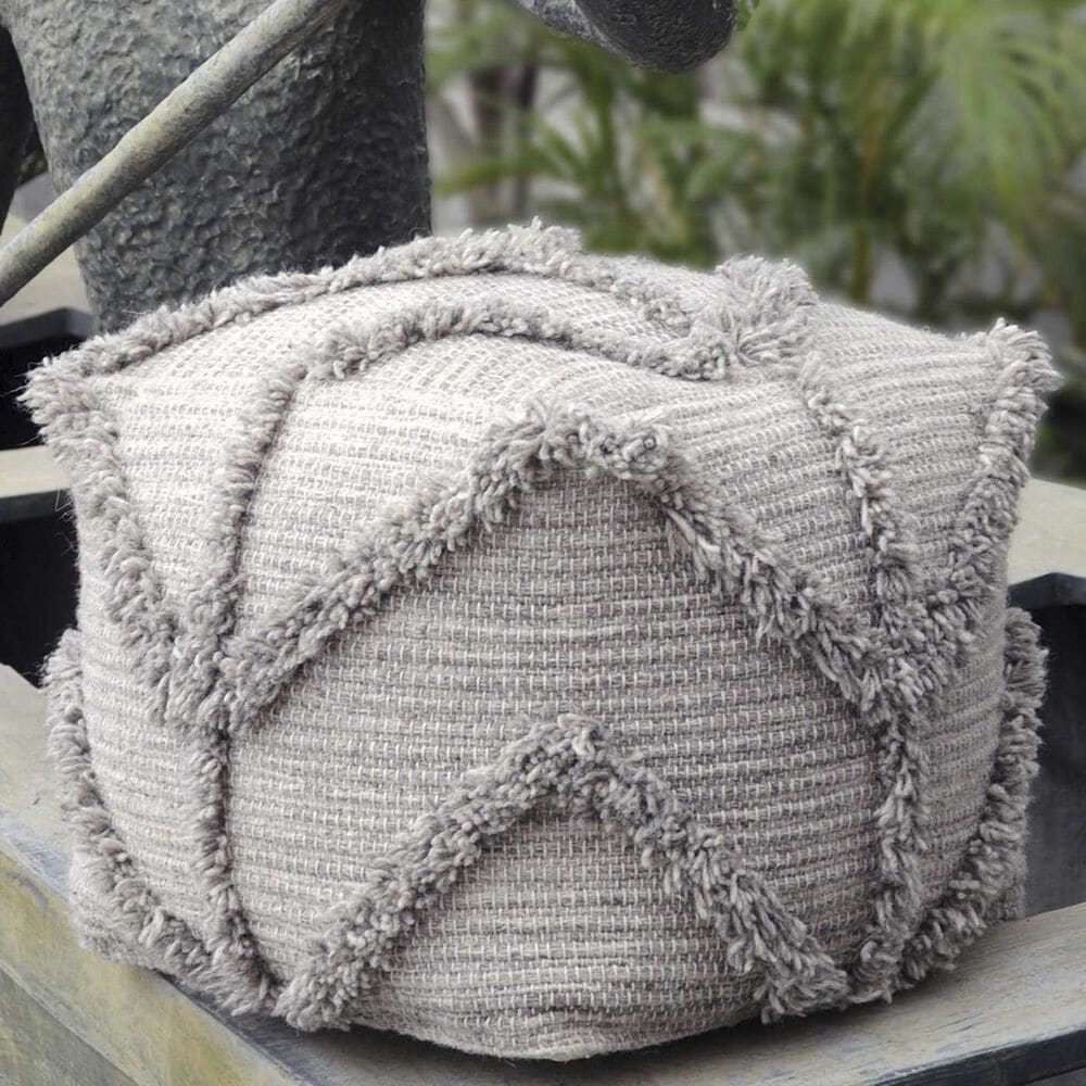 Uttermost Olfen Pouf in Gray , , large