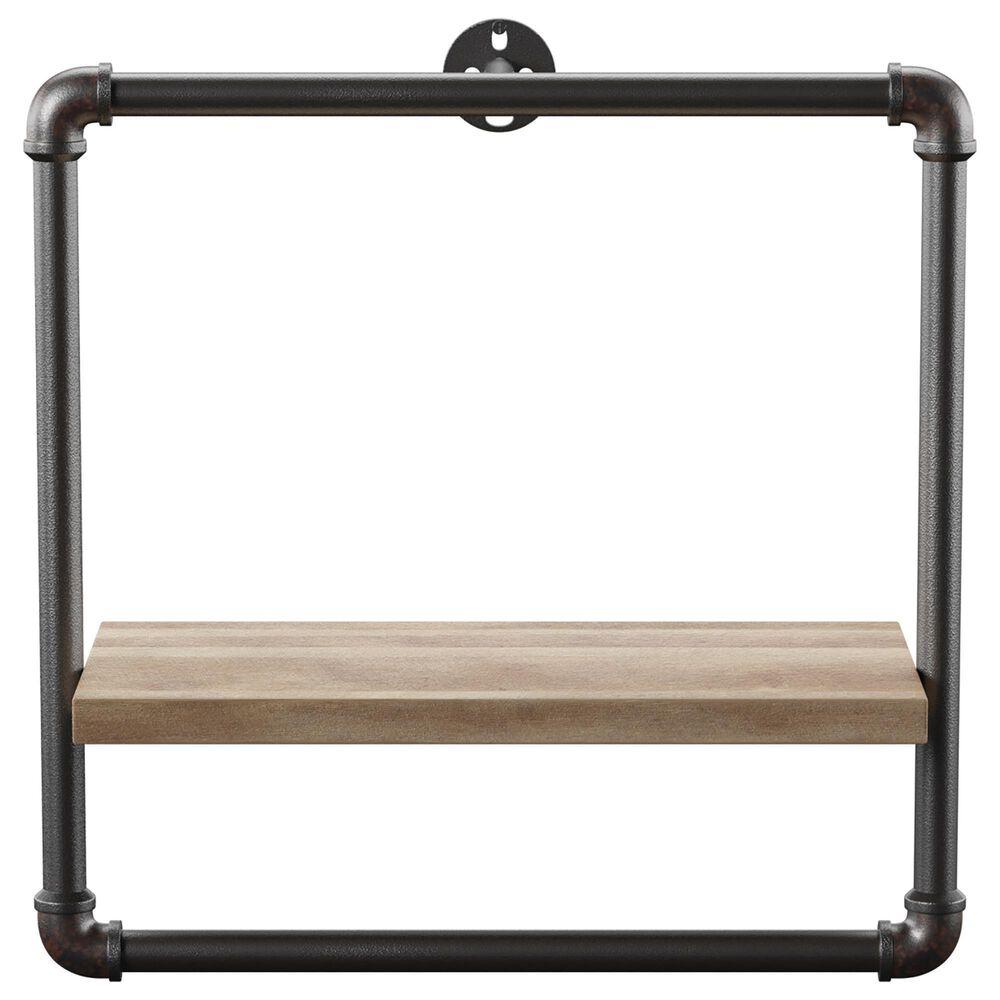 "Furniture of America Dennis 16.25"" x 15.75"" Wall Shelf in Sand Black, , large"