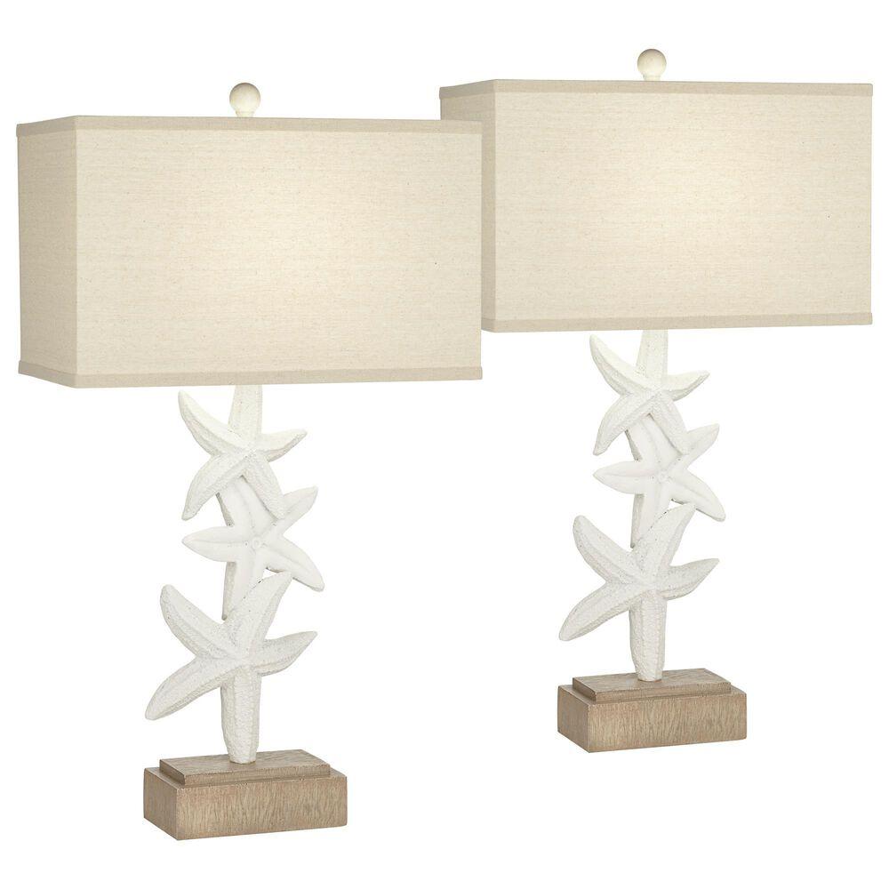 Pacific Coast Lighting Seastar Sonata Table Lamp in White (Set of 2), , large