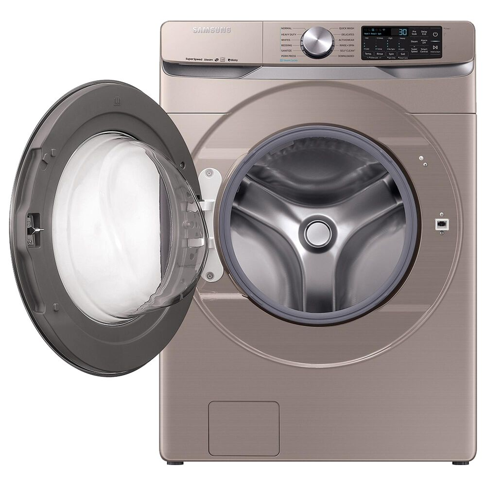 Samsung 4.5 Cu. Ft. Front Load Washer and 7.5 Cu. Ft. Electric Dryer Laundry Pair with Pedestal in Champagne, , large