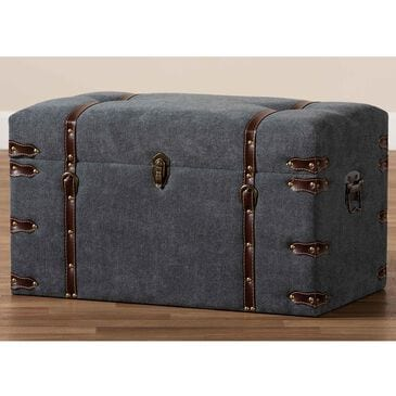 Baxton Studio Palma Storage Ottoman in Grey, , large