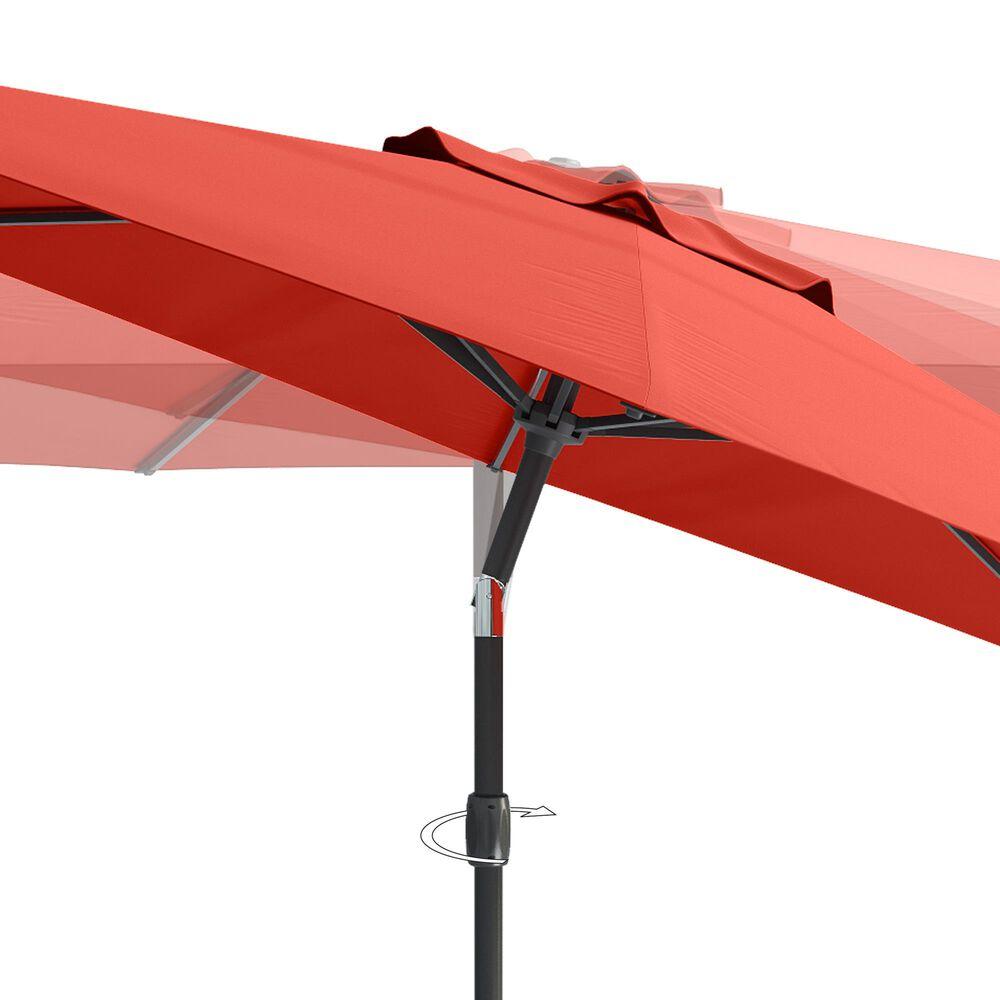 CorLiving 10' UV & Wind Resistant Patio Umbrella in Crimson Red, , large