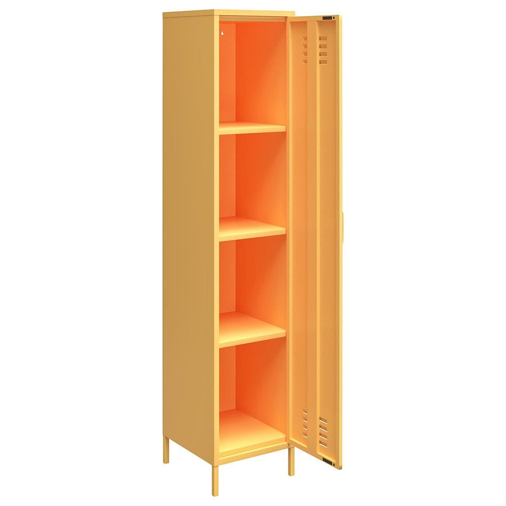 Novogratz Cache Locker Storage Cabinet in Yellow, , large