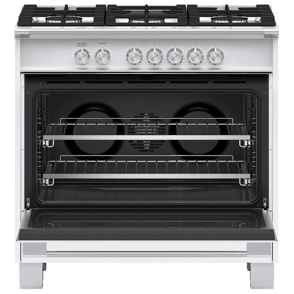 """Fisher and Paykel 36"""" Freestanding Classic Dual Fuel Ranges in White, , large"""