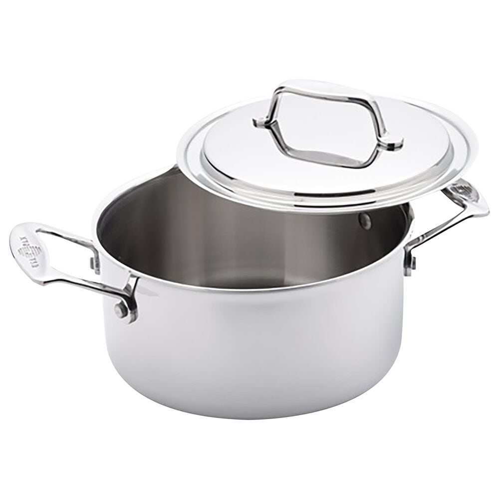 USA PAN 3 Qt Stock Pot with Cover in Gray, , large