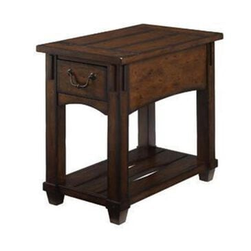 Hammary Tacoma Chairside Table in Rustic Brown, , large