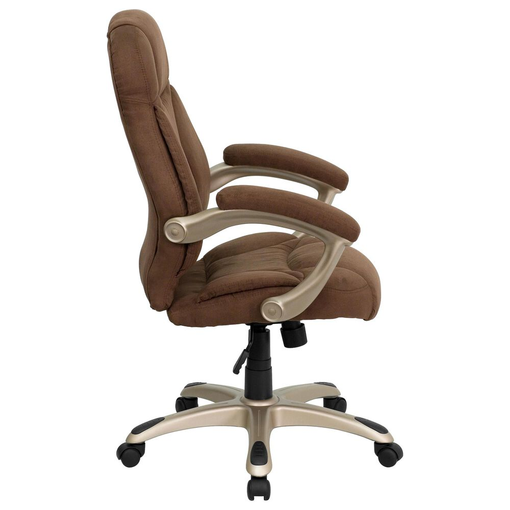 Flash Furniture Executive Swivel Chair in Brown and Gold, , large
