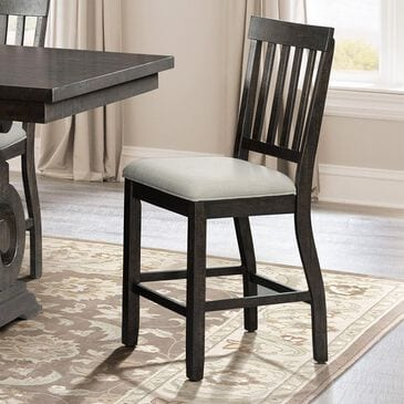 Mayberry Hill Stone Counter Chair in Smokey Dark Ash, , large