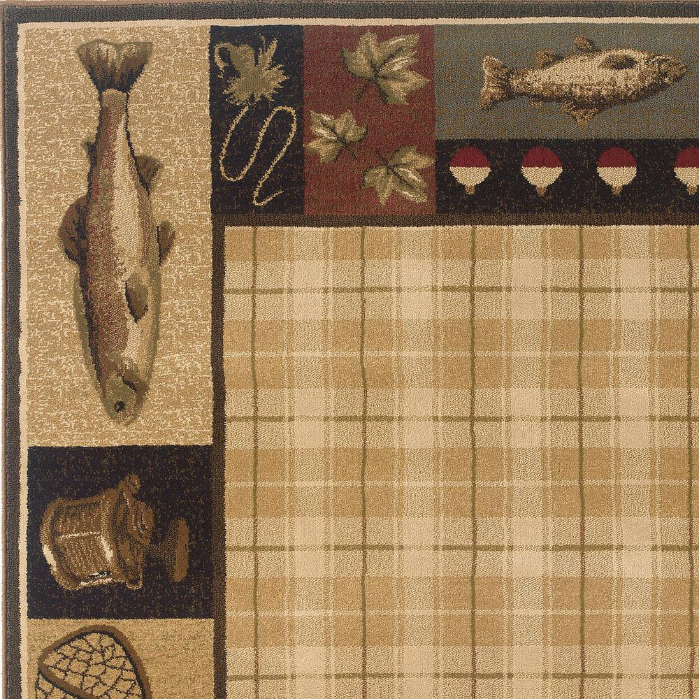 Oriental Weavers Hudson 1065B 10' x 13' Beige Area Rug, , large