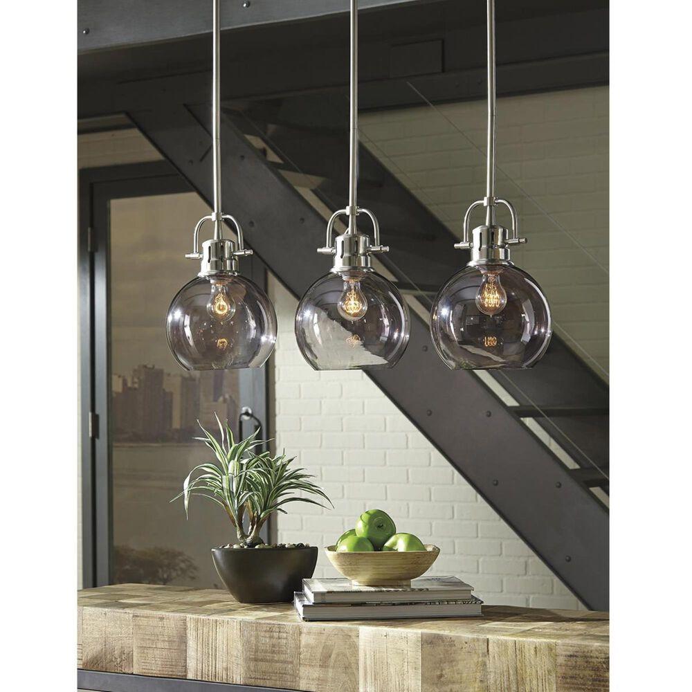 Signature Design by Ashley Johano Glass Pendant Light In Gray, , large