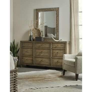 Hooker Furniture Sundance Dresser and Mirror in Cliffside and Antique Bronze, , large