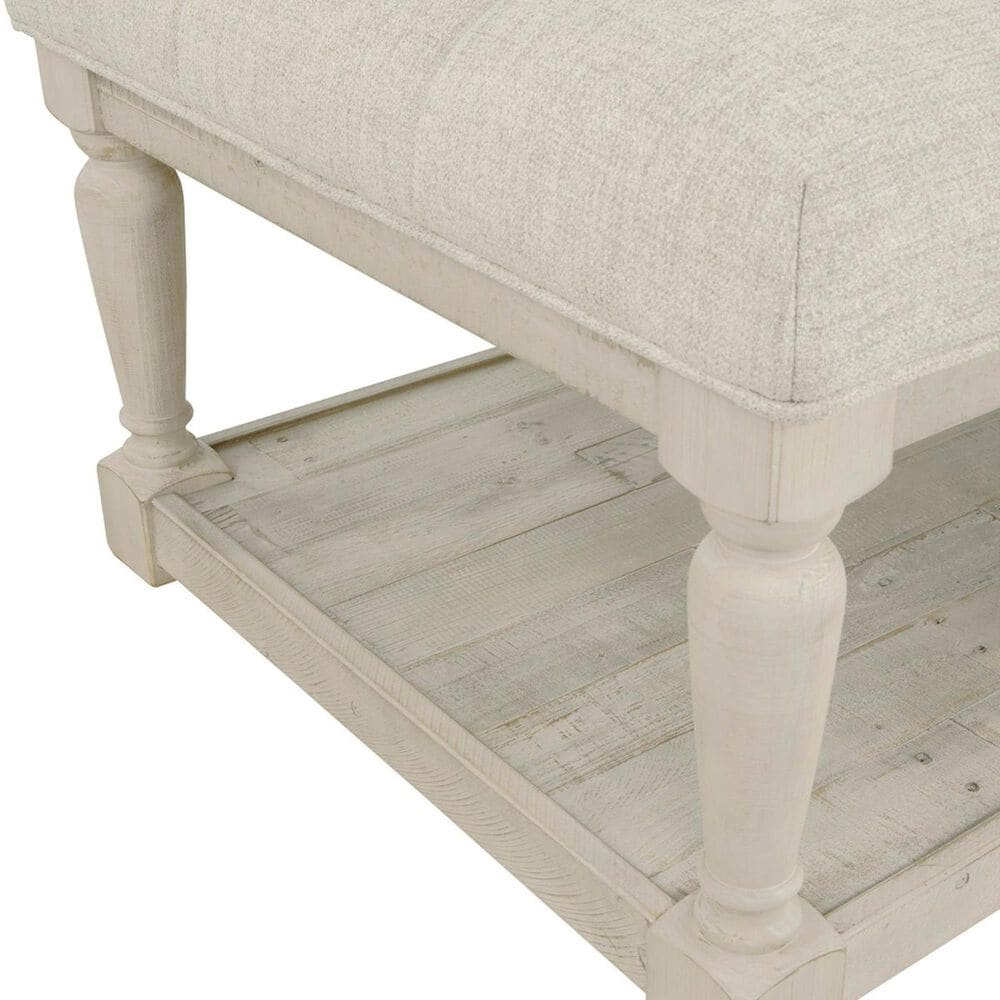 Signature Design by Ashley Shawnalore Ottoman Cocktail Table in Whitewash, , large