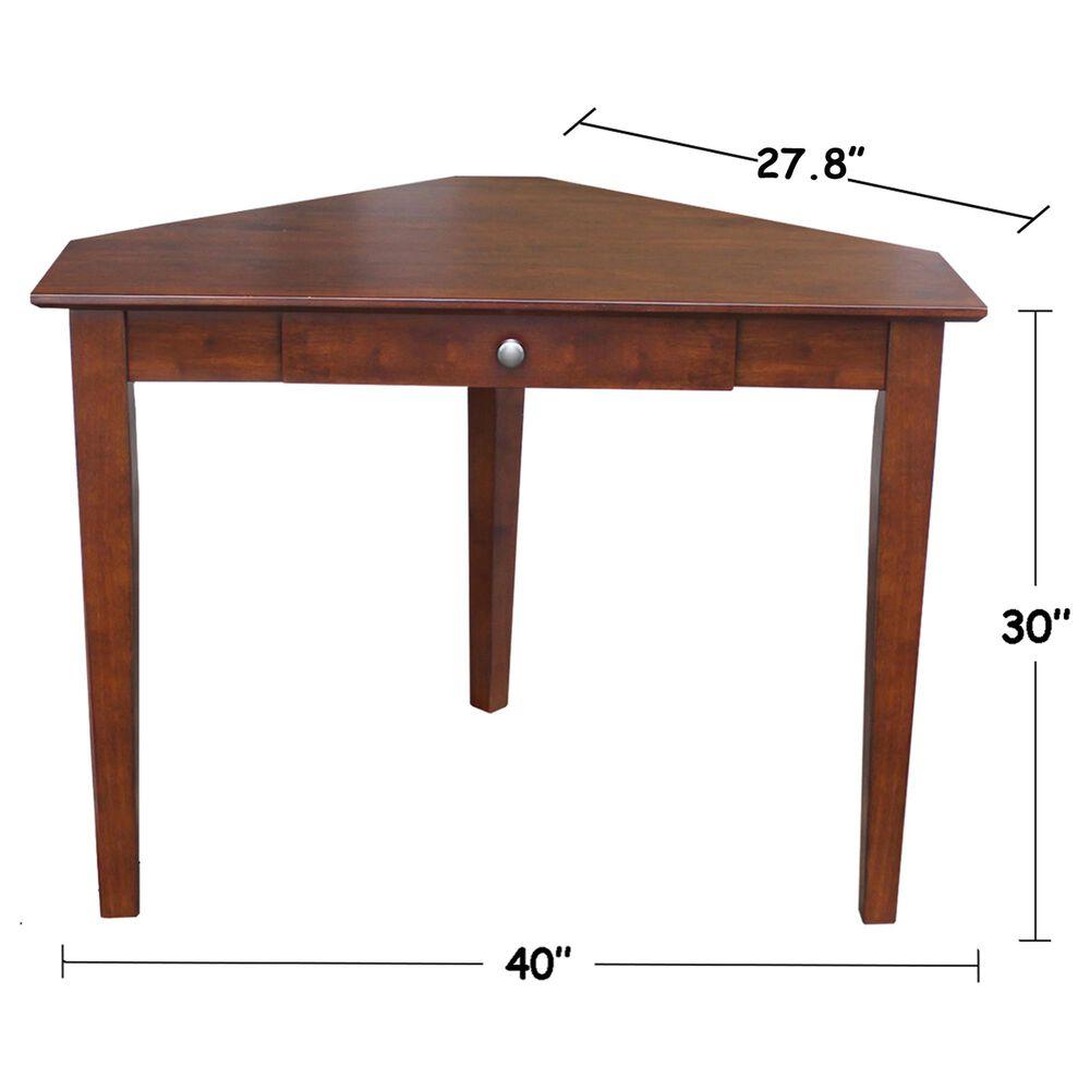International Concepts Corner Computer Desk in Espresso, , large