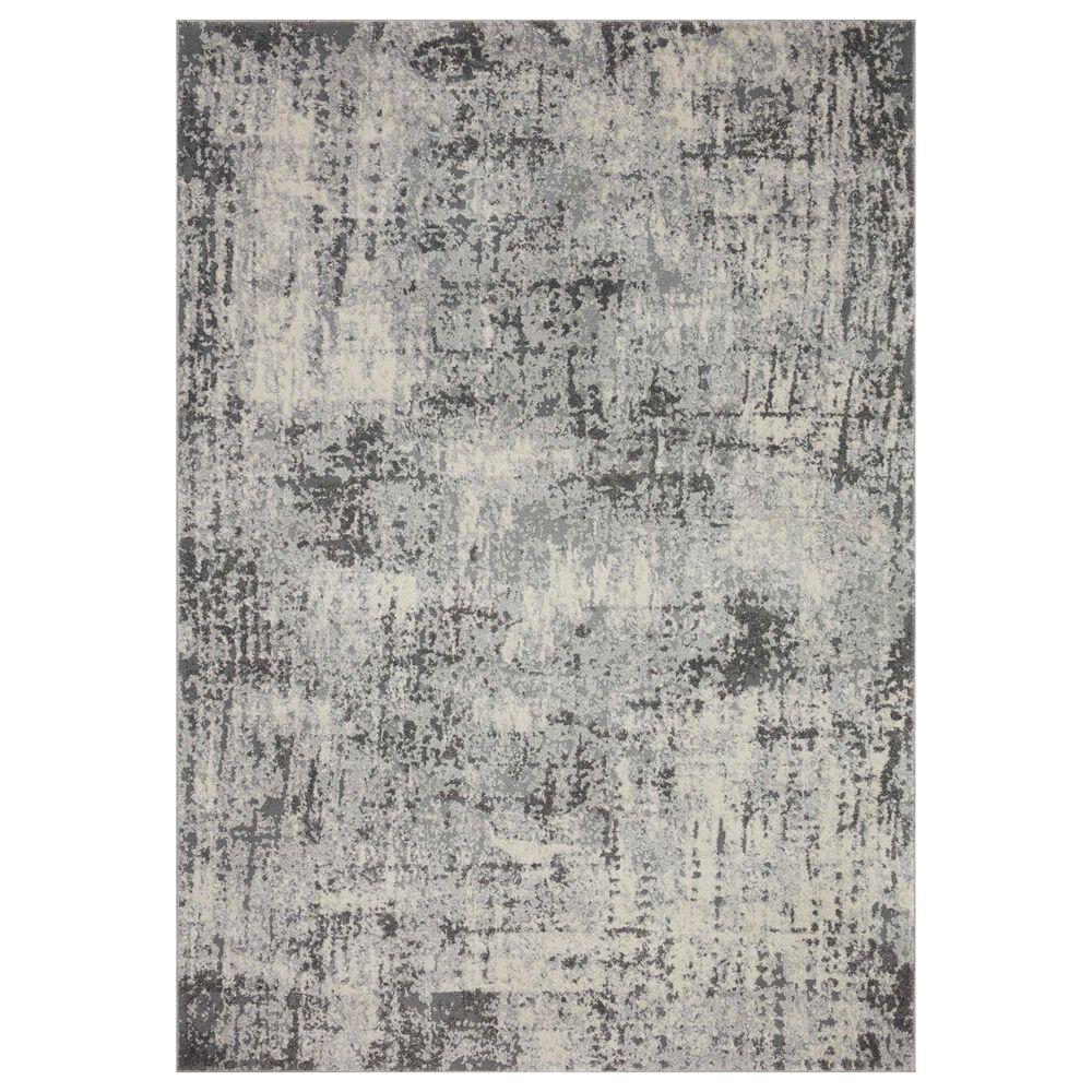 "Loloi II Austen 5'3"" x 7'7"" Pebble and Charcoal Area Rug, , large"