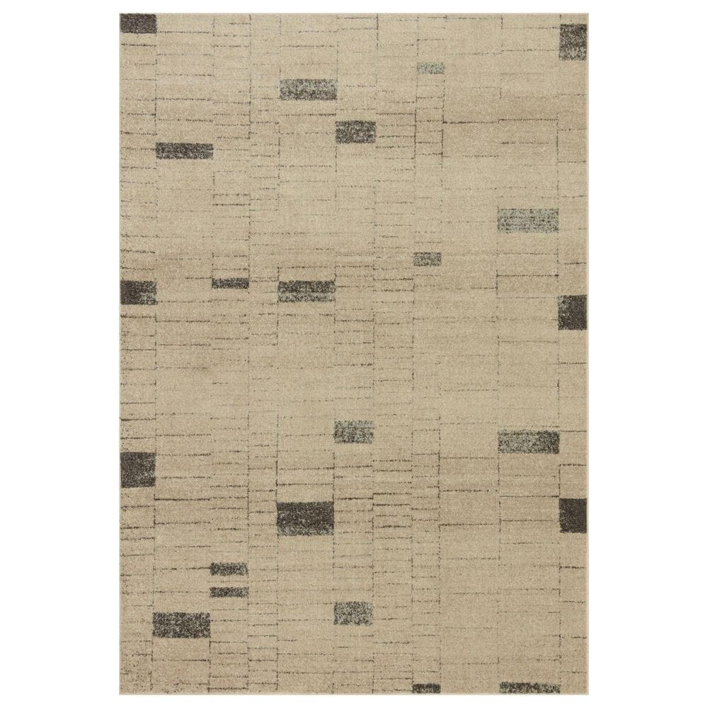 Loloi II Bowery 4' x 6' Slate and Taupe Area Rug, , large